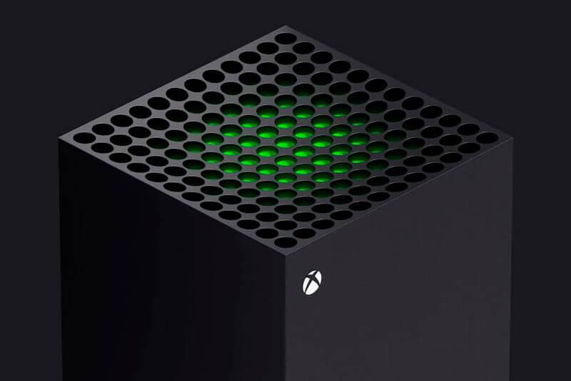 Xbox Series X parte superior