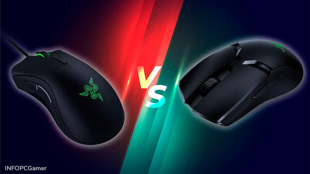 Mouse Gamer con Cable o Inalámbrico