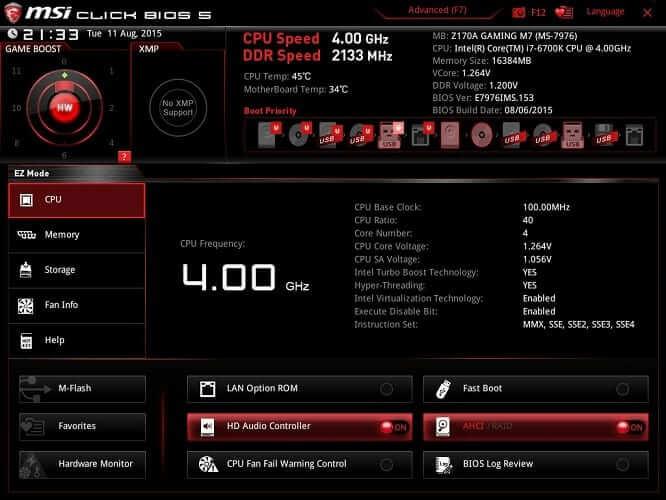 como comprobar la temperatura de la CPU