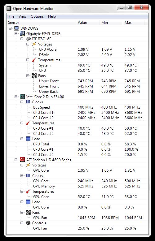 como comprobar la temperatura de la computadora