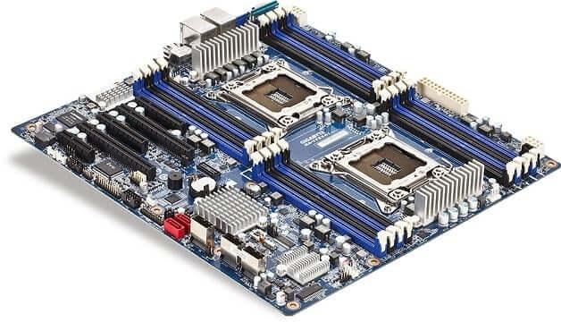 placa madre con 2 procesadores