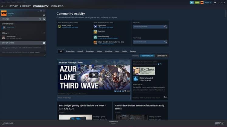 Epic Games Store y Steam Caracteristicas sociales