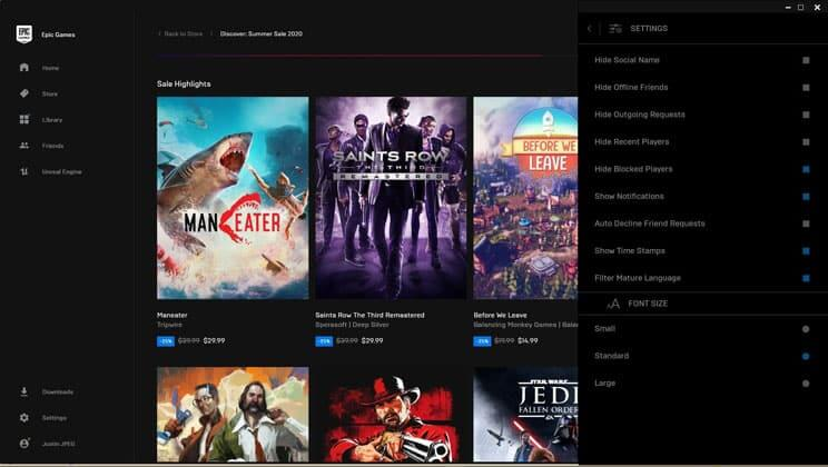 Epic games Store y Steam